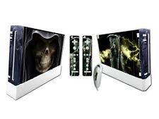 Nintendo Wii Skin Design Foils Aufkleber Schutzfolie Set - Grim Reaper Motiv