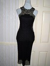 Vintage Black Lace Gianni Versace Cocktail Dress Size 10