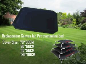 Dog Trampoline Hammock  Bed Replacement Mat Cover Black