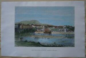 1891 Reclus print TEGUCIGALPA, HONDURAS (#39)