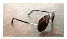 Fiber Santos Ct0096S Retail $2,445 Cartier Aviator Sunglasses Horn Finish Carbon