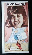 Mick Taylor   Rolling Stones Guitarist   Original 1970's Card  # EXC