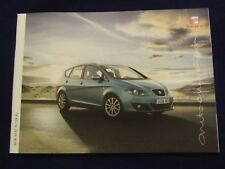 SEAT ALTEA XL S SE SPORT FULL SALES BROCHURE 2009 39 PAGES