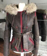 Parajumpers Shearling Real Fur Jacket Coat RRP 1200