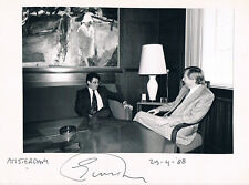 "Netherlands Ed van Thijn 1934- autograph signed 6""x8"" card w. photo Amsterdam"
