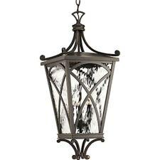 "Progress Cadence 3 Light 10"" Outdoor Hanging Lantern, Bronze - P6542-108"