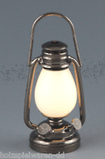 Creal 2230 Öllampe LED mit Batterie Metall 1:12 für Puppenhaus NEU! #
