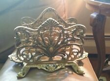 ANTIQUE HEAVY BRASS LETTER FILE HOLDER B&H BRADLEY & HUBBARD Perhaps for Napkins