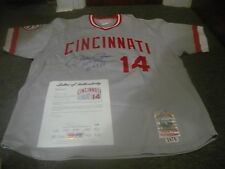 Pete Rose Autographed Baseball Jersey PSA Certified Mitchell and Ness