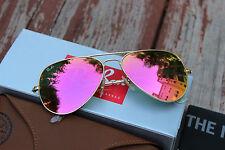 Ray Ban Aviator Pink RB3025 112/4T  Lens Matte Frame Unisex 58mm Sunglasses