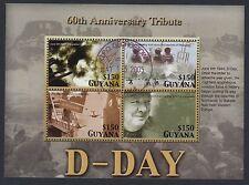 CHURCHILL :2004 GUYANA  D. Day Miniature sheet SGMS6471 fine used