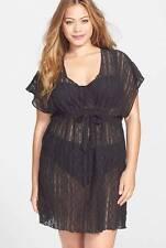 Becca Crochet Tunic Cover Up  2X (20-22 W) Black