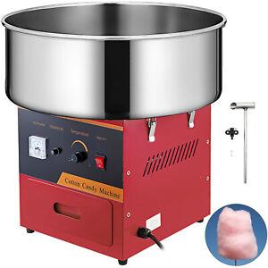 Profi Zuckerwattemaschine Zuckerwatte Candymaker Maschine Rot + Zucker Schaufel