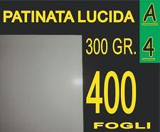 400 FOGLI Carta 300 gr fotografica PATINATA lucida x stampante laser A4 21X29.7