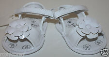 Koala Baby Kids White Infant Sandals Flower Shoes Size 2 or 3-6 months Nwt