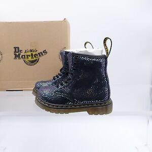 Size 9 Toddler Kid's Dr. Martens 1460 Side Zipper Boots 26106125 Iridescent