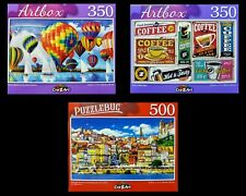 Lot of 3 ~ NEW 350-500 Piece Jigsaw Puzzles Cra-Z-Art Balloons Signs Portugal