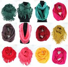 US SELLER-wholesale scarf lot of 12 infinity scarves cowl wrap