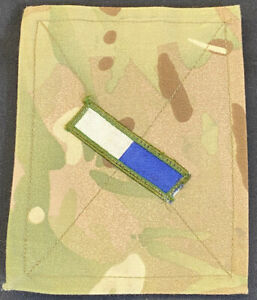 British Military MTP Uniform Blanking Patch With Blue White Square