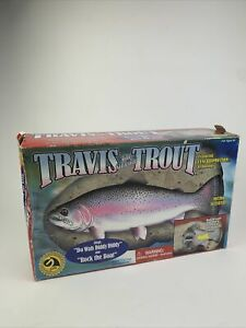 Vtg 1999 Travis The Singing Trout Gemmy Animated Fish Wall Mount New Damaged Box