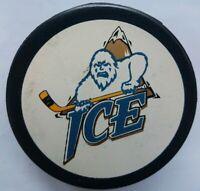 KOOTENAY ICE WHL OFFICIAL GAME PUCK INGLASCO MFG. RARE MADE IN CANADA HOCKEY