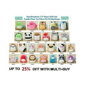 "GENUINE Squishmallows 7.5"" Super Soft Cute Cuddle Plush Toy Pet Pal Big Range"