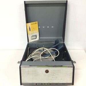 Vintage Bush SRP31D Record Player Turntable In Original Case Cord Cut #460