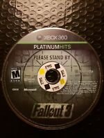 Fallout 3 (Microsoft Xbox 360, 2008) Platinum Hits Disc Only comes with Case too
