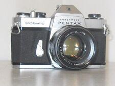 Pentax Honeywell Asahi Spotmatic SP1000 SLR Camera With Three Lenses and Case