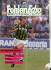 BL 91/92 Borussia Mönchengladbach - 1. FC Kaiserslautern