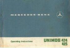 MERCEDES TRACTOR UNIMOG 424 & 425 OPERATORS MANUAL - U1000 U1300 U1500 U1500T