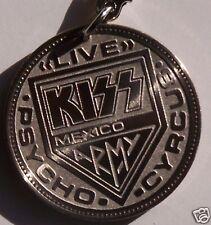 KISS Psycho Misprint Mexican Coin Key Chain Keychain Near Mint