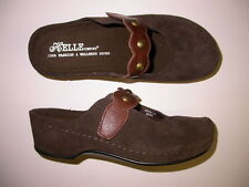 Helle Comfort Remy Clogs Shoes Brown 37 6.5