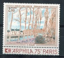 FRANCE 1974, timbre 1812, TABLEAU A. SISLEY, neuf**