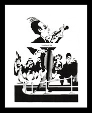 1936-rpt JASCHA HEIFETZ Violin Lithuanian Jewish Violinist USA Caricature MATTED