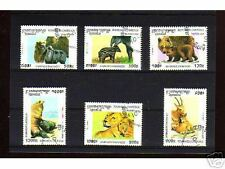 1043++CAMBODGE   SERIE TIMBRES  ANIMAUX  SAUVAGES N°2