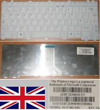 QWERTY KEYBOARD UK TOSHIBA A600 U400 Series 9J.N7482.G0U AEBU2E00030-EN WHITE