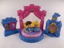 Fisher-Price Little People Disney Cinderella Ball Prince dance floor clock