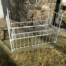 ANTIQUE Metal CRIB / Vintage Architectural Salvage, Settee, Display  RARE
