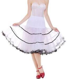 """RULTA 50s Vintage Swing Petticoat Rockabilly 26"""" Fancy Net Underskirt Short A1"""