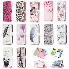 Flip PU Cuir 9 Cartes Slots Portefeuille Housse de Téléphone pour iPhone LG