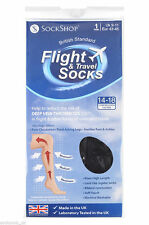 1 Pair Unisex Flight Travel DVT Compression Health Socks Size 9-11 Uk, 43-46 Eur