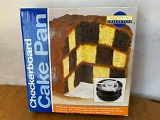 Kitchen Collections Checkerboard Cake Pan Set 3 Pans Divider Instruction New