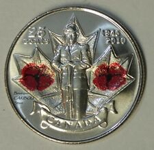 2010 Canada Color 25 Cents Poppy BU