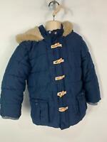 BOYS MATALAN BLUE CASUAL WINTER PADDED HOOD RAIN COAT JACKET KIDS AGE 4/5 YEARS