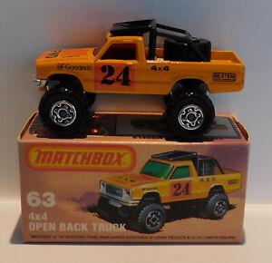 Matchbox Superfast Series 63D 4x4 open Back Truck