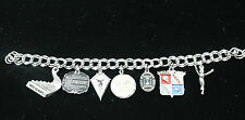 Weight Watchers TOPS Double Link Sterling Silver Charm Bracelet 1973