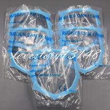 5 Pcs Blue Dental Disposable Autoclavable Plastic Rubber Dam Frame Holder