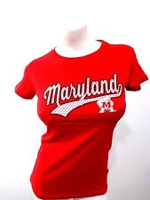 MARYLAND TERRAPINS WOMEN'S RED POLKA DOT T SHIRT SIZE M NCAA LICENSED