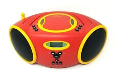 Red Mickey Mouse CD Player Boombox Radio Yellow Portable DB3000-C